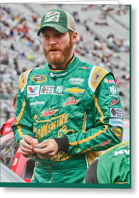 Dale Earnhardt Jr Greeting Card by Jonathan McCoy