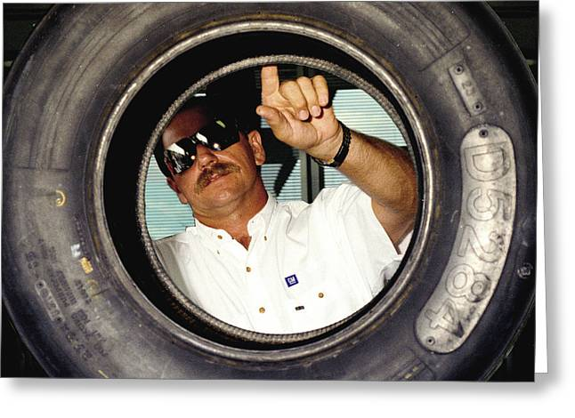Dale Earnhardt The Intimidator  Greeting Card by Jeff  Young