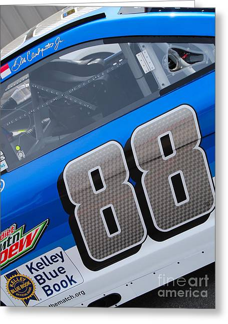 Dale Earnhardt Jr Greeting Cards - Dale Jrs #88 Greeting Card by Mark Spearman