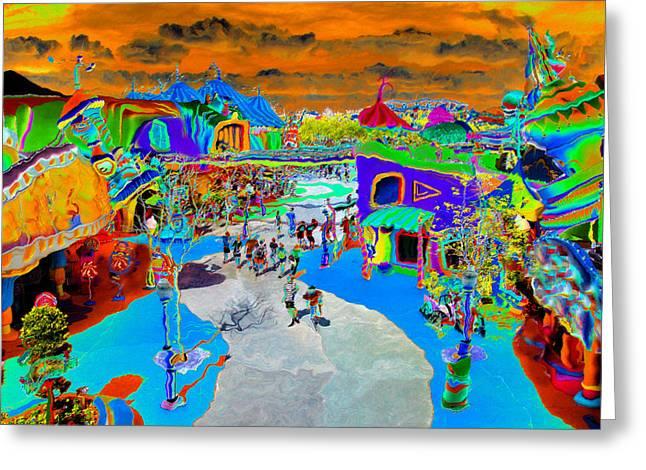 Imaginary Art Greeting Cards - Dali Land Greeting Card by David Lee Thompson