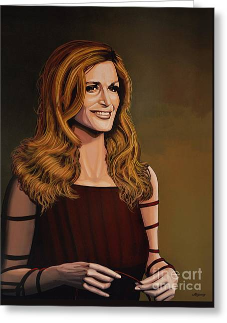 Italian Cinema Greeting Cards - Dalida Greeting Card by Paul Meijering