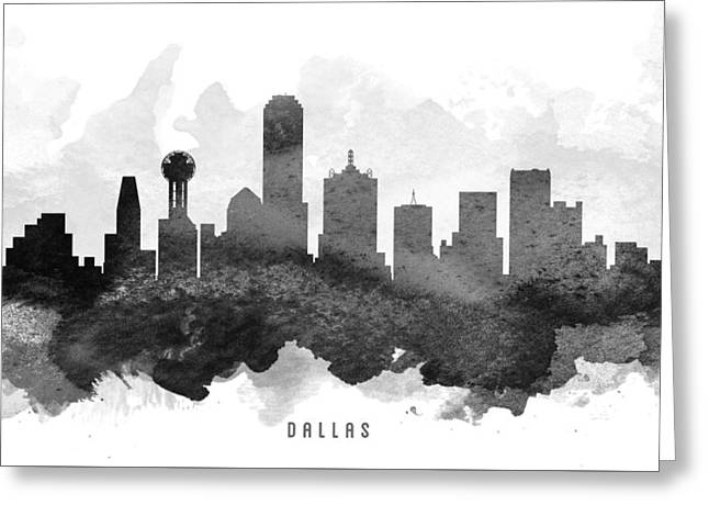 Dallas Skyline Greeting Cards - Dallas Cityscape 11 Greeting Card by Aged Pixel