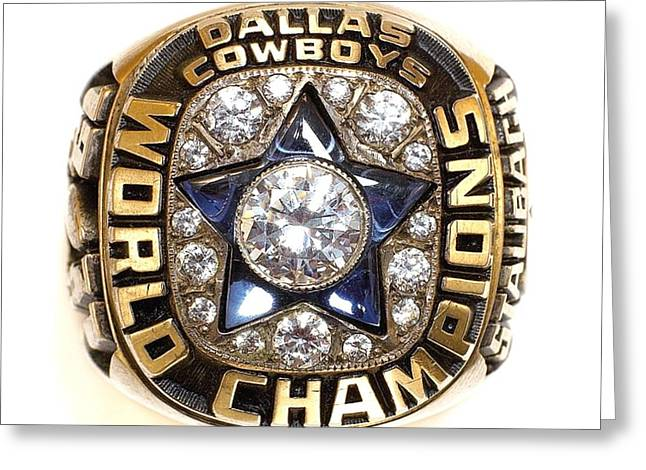 Dallas Cowboys First Super Bowl Ring Greeting Card by Paul Van Scott