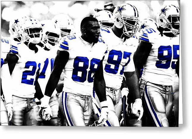 Dallas Cowboys Here We Come Greeting Card by Brian Reaves
