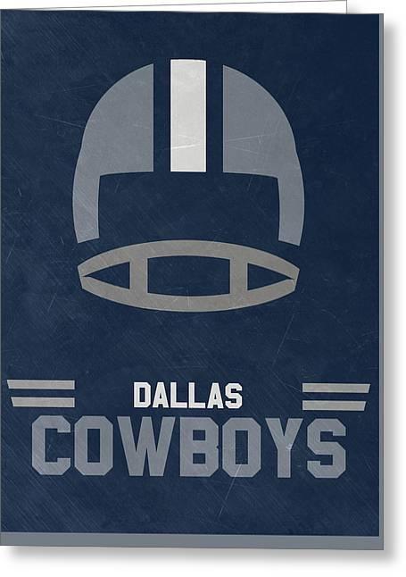 Dallas Cowboys Vintage Art Greeting Card by Joe Hamilton