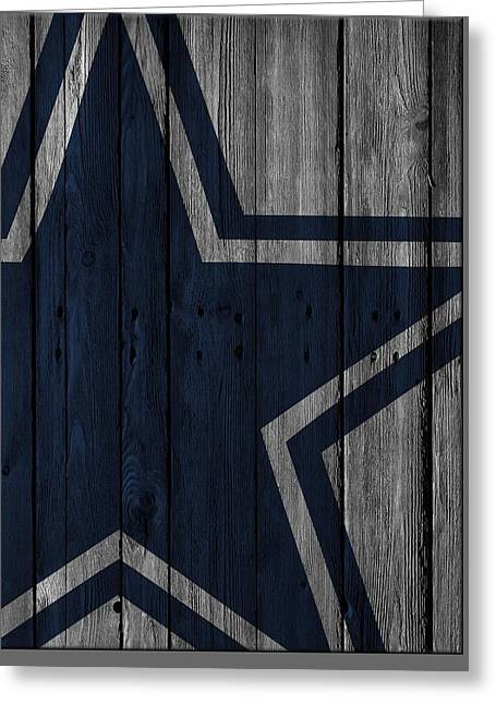 Dallas Cowboys Wood Fence Greeting Card by Joe Hamilton