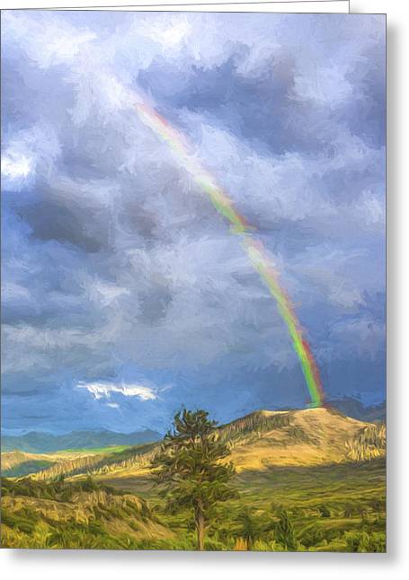 Dallas Divide Rainbow II Greeting Card by Jon Glaser