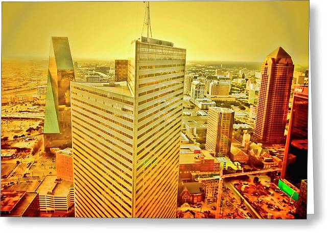 Dallas Gold Greeting Card by Douglas Barnard