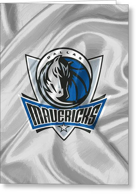 Dallas Mavericks Greeting Card by Afterdarkness
