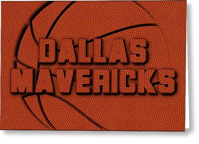 Dallas Mavericks Leather Art Greeting Card by Joe Hamilton