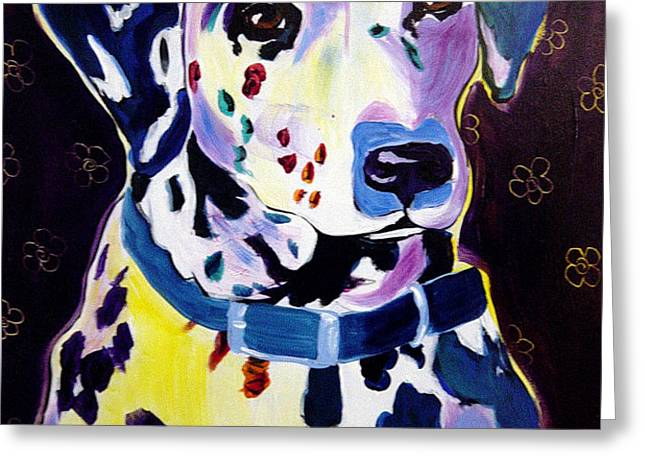 Dalmatian - Dottie Greeting Card by Alicia VanNoy Call