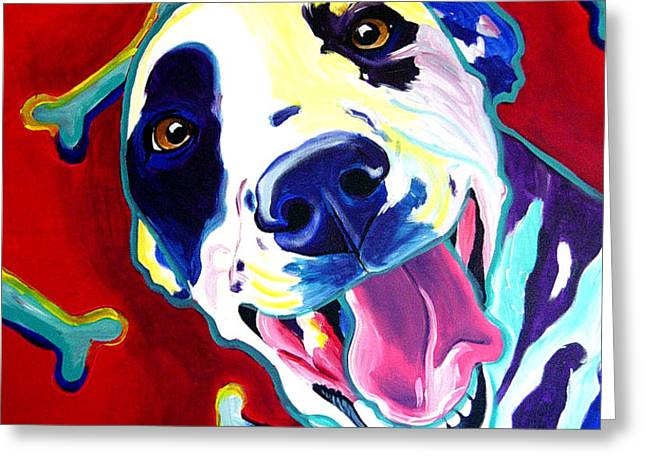 Dalmatian - Yum Greeting Card by Alicia VanNoy Call