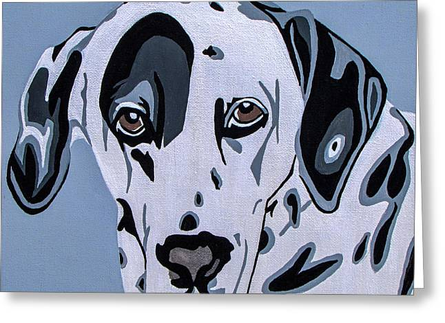 Dalmatian Greeting Card by Slade Roberts