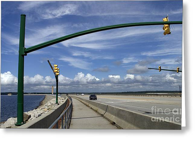 Beach Photography Greeting Cards - Dam Traffic Greeting Card by Skip Willits