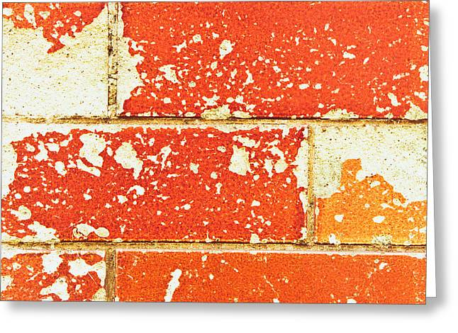 Abandoned Houses Greeting Cards - Damaged brick Greeting Card by Tom Gowanlock