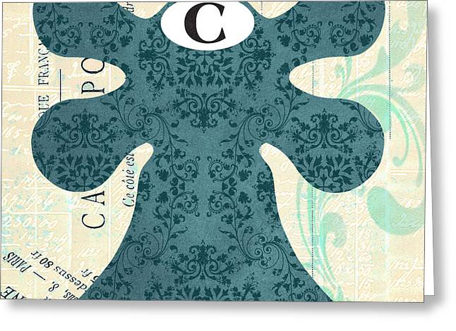 Damask Faucet Cold Greeting Card by Jill Meyer