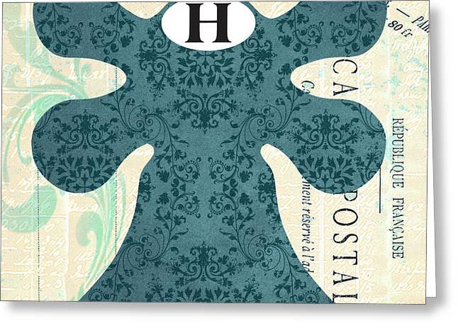 Damask Faucet Hot Greeting Card by Jill Meyer