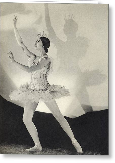 Ballet Dancers Drawings Greeting Cards - Dame Margot Fonteyn De Arias 1919 Greeting Card by Ken Welsh