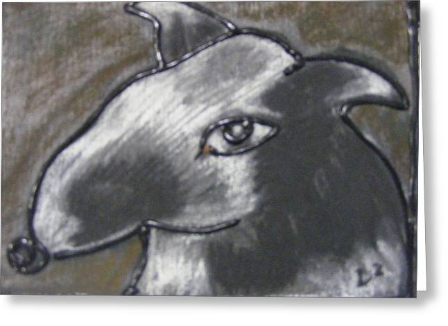 Collie Mixed Media Greeting Cards - Damn Dog 1 Greeting Card by Donna  Dyer