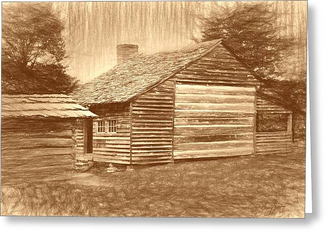 Outbuildings Greeting Cards - Dan Lawson Place - Cades Cove Greeting Card by Barry Jones