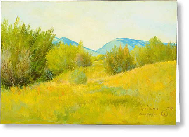 Danae Paintings Greeting Cards - Dana Ranch  Greeting Card by Celestial Images