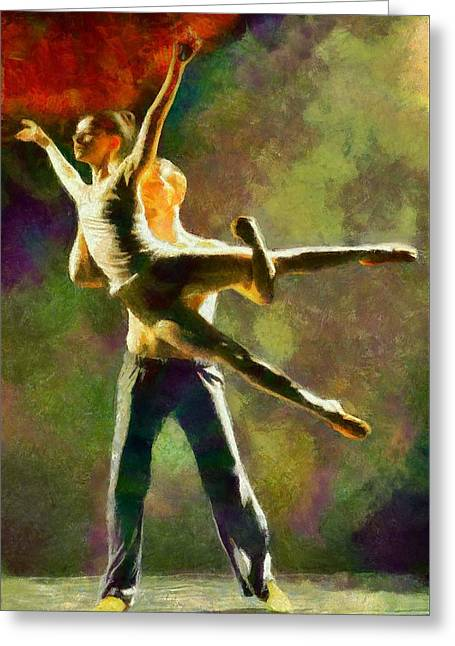 Dancer Pictures Greeting Cards - Dance 3 Greeting Card by Caito Junqueira