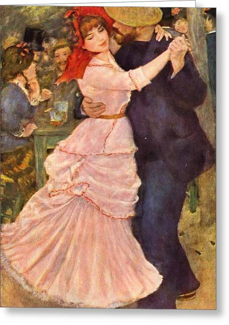 Renoir Greeting Cards - Dance at Bougival  Greeting Card by Extrospection Art