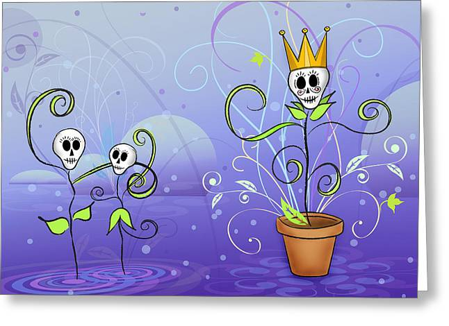 Joyful Drawings Greeting Cards - Dance for the May Queen Greeting Card by Tammy Wetzel