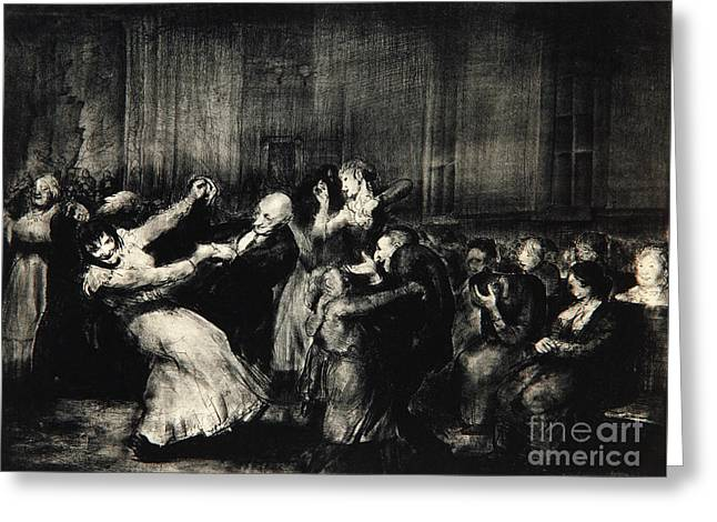 Dance In A Madhouse Greeting Card by George Wesley Bellows