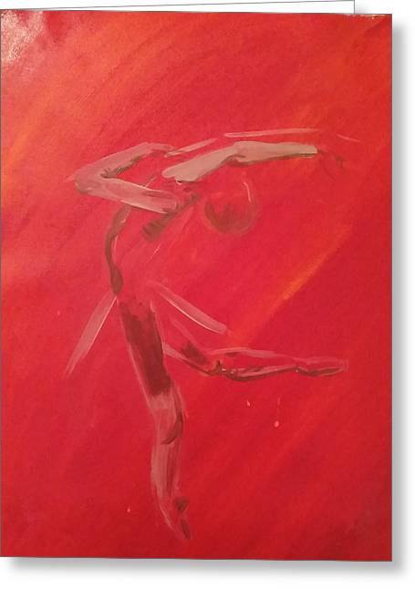 Red Abstracts Greeting Cards - Dance In Motion Greeting Card by Estella Mendez