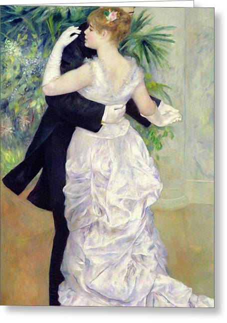 The Houses Greeting Cards - Dance in the City Greeting Card by Pierre Auguste Renoir