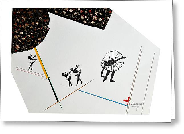 Ballet Dancers Greeting Cards - Dance in Three Acts Greeting Card by Luis McDonald