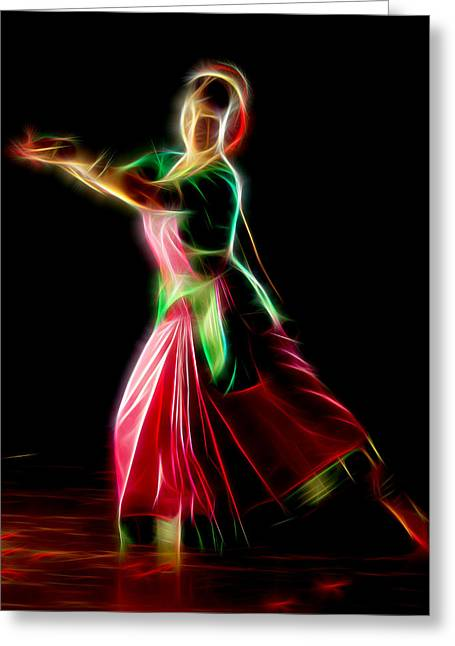 Game Greeting Cards - Dance India Greeting Card by Michael Vicin
