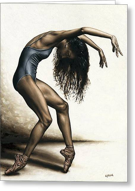 Dance Intensity Greeting Card by Richard Young