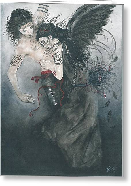 Night Angel Greeting Cards - Dance Is Forever Greeting Card by Isis Raye