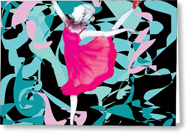 Princess Pastels Greeting Cards - Dance Labyrinth Greeting Card by Marie Loh