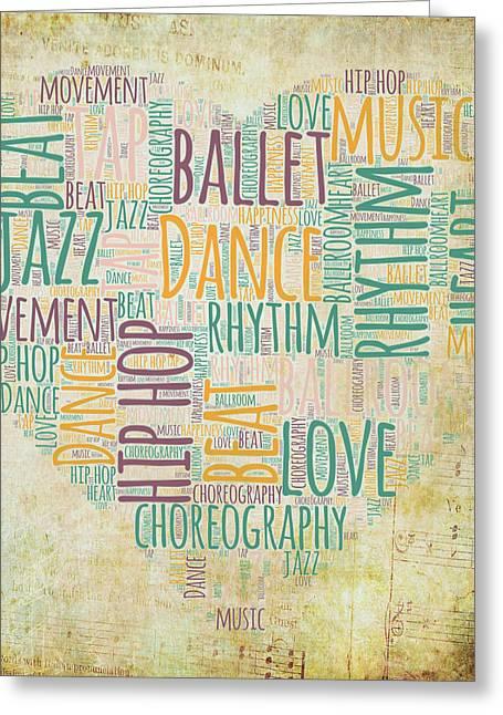 Dance Love V2 Greeting Card by Brandi Fitzgerald