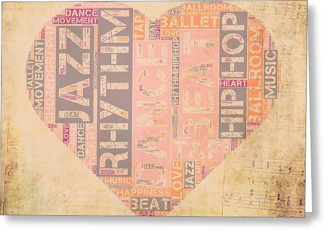 Dance Love V3 Greeting Card by Brandi Fitzgerald