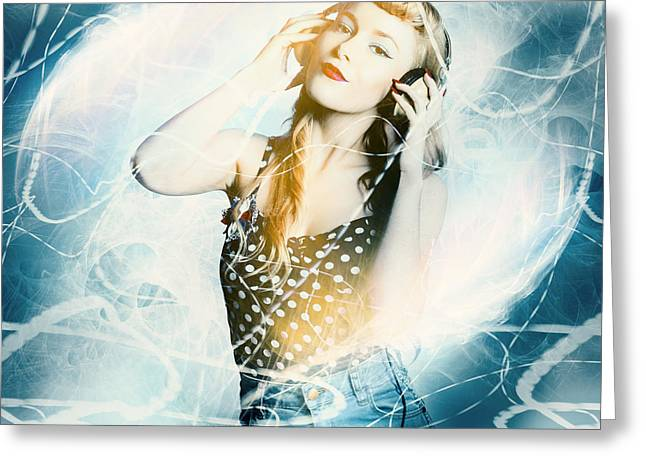 Dance Music Festival Pinup Greeting Card by Jorgo Photography - Wall Art Gallery
