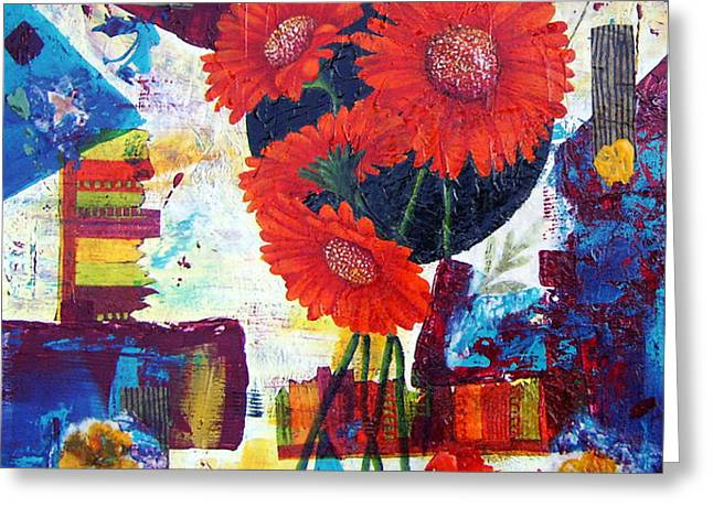 Dance of the Daisies Greeting Card by Terry Honstead