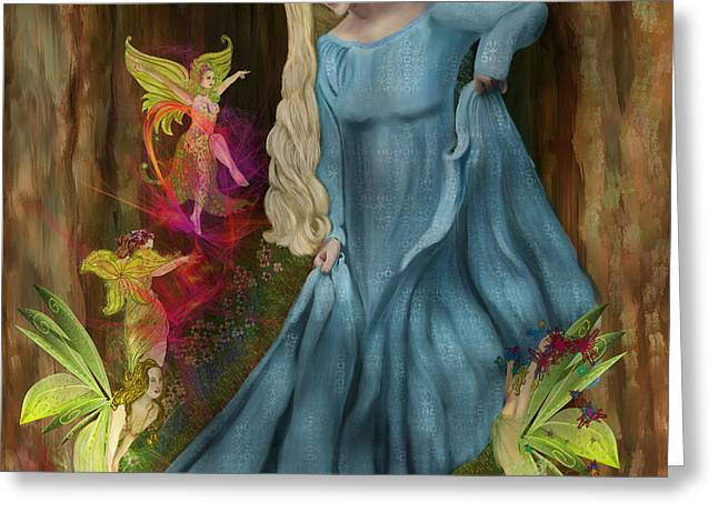 Flying Frog Greeting Cards - Dance Of The Fairies Greeting Card by Sydne Archambault