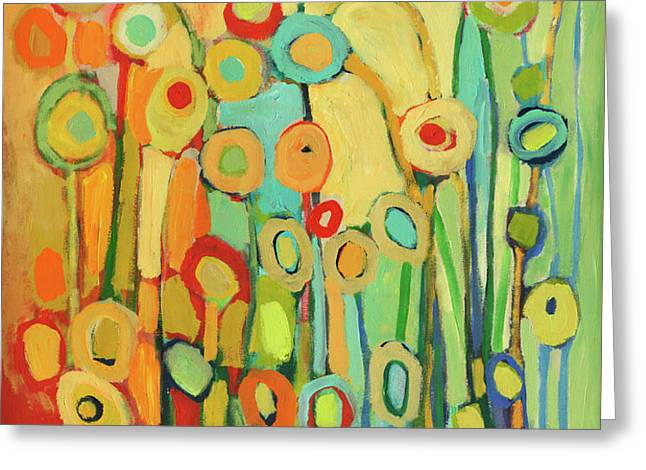 Dance of the Flower Pods Greeting Card by Jennifer Lommers