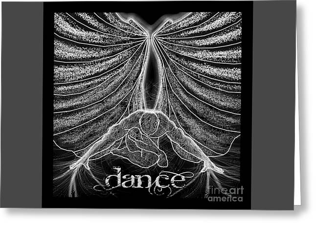 Ballet Dancers Drawings Greeting Cards - Dance Wings Greeting Card by Dale Crum