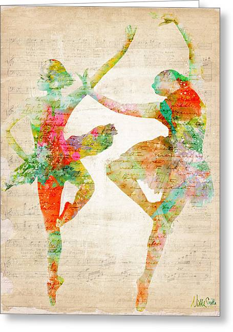 Ballet Dancer Greeting Cards - Dance With Me Greeting Card by Nikki Smith