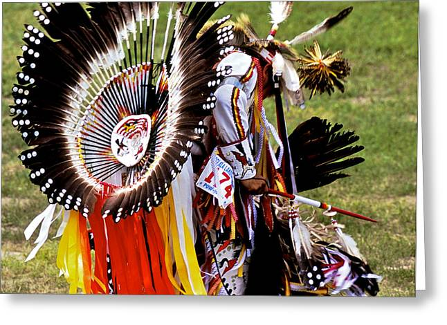Oglala Greeting Cards - Dancer 174 Greeting Card by Chris  Brewington Photography LLC
