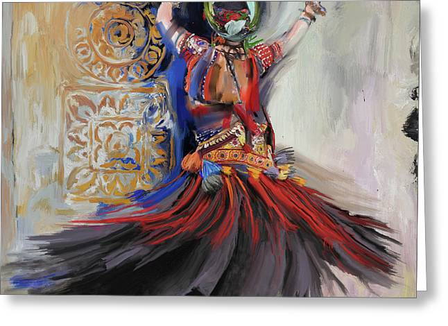 Dancer 265 1 Greeting Card by Mawra Tahreem
