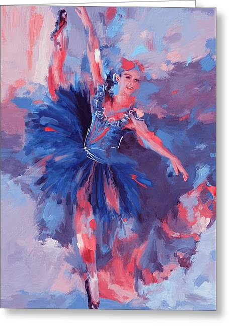 Dancer 281 3 Greeting Card by Mawra Tahreem