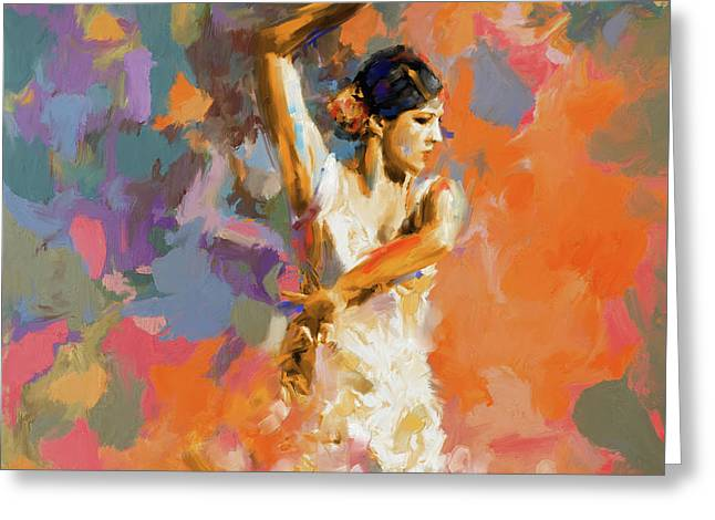 Dancer 283 1 Greeting Card by Mawra Tahreem