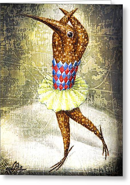 Imaginary World Greeting Cards - Dancer 3 Greeting Card by Lolita Bronzini