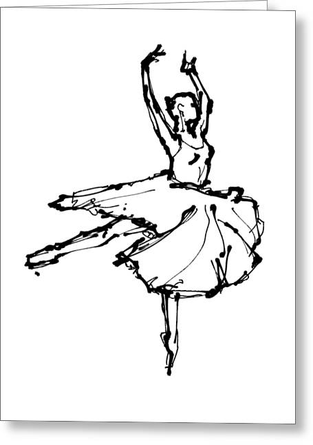 Gestures Greeting Cards - Dancer 5 Greeting Card by H James Hoff
